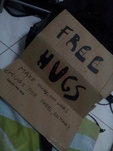 Free hugs, Couchsurfing, Malaisie