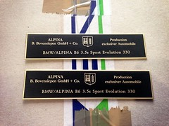 BMW / Alpina B6 3.5s Sport Evolution 330 (bmw_alpina_teile) Tags: 2002 bavaria sticker alpina plate turbo dash 25 bmw b2 23 vin 28 decal e3 m3 a4 35 27 c2 console 325i e6 b7 csl e30 neue klasse aufkleber e9 320 nk b6s tii e34 c1 e10 b12 e36 biturbo e20 e32 b3 b9 e28 323i b6 320i e39 b11 b10 e21 e12 e23 e24 e31 b8 typenschild a4s bovensiepen