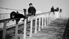 Playful (Burnett NL) Tags: street maastricht photography candid streetphotography fujifilm brug maas hoge x20 limburg