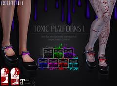 Violetility Toxic Platforms I (Violetility) Tags: shoes melting sl secondlife unisex dsf tdsf originalmesh darkstylefair
