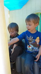 "Paul and Corbin Play House at Lou Ann's • <a style=""font-size:0.8em;"" href=""http://www.flickr.com/photos/109120354@N07/26513196854/"" target=""_blank"">View on Flickr</a>"