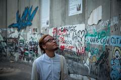 Rickey Laurentiis at the Wall around Bethlehem (PalFest) Tags: bethlehem palestine rickey laurentiis wall israel