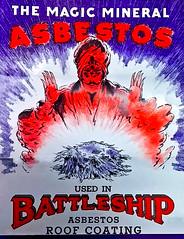 Vintage Asbestos Battleship Roof Coating Ad (Asbestorama) Tags: roof magic ad advertisement mineral battleship swami roofing asbestos