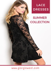 Hallie Lace Black Dress (giorgiowestclothing.com) Tags: lacedress lacepartydress womenlacedress