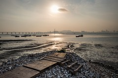 Lau Fau Shan (debbykwong) Tags: leica sunset color landscape hongkong fishing culture oysters  laufaushan leicaq