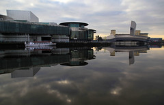 Salford Quays (David Chennell - DavidC.Photography) Tags: reflection manchester dock salfordquays calm salford