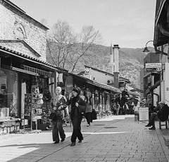 Afternoon Shopping (C Bing) Tags: film mediumformat sarajevo balkans blackandwhitephotography kodaktrix400 blackandwhitefilm bosniaandherzegovina baarija rolleiflex28gx