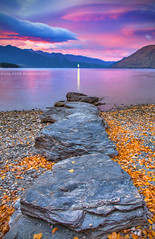 Into The Light || QUEENSTOWN || SOUTH ISLAND (rhyspope) Tags: new autumn sunset sky lake pope color fall sunrise canon zealand nz queenstown 5d wakatipu rhys mkii rhyspope