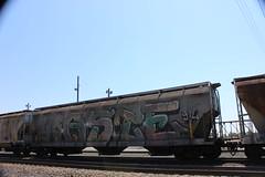 05312016 032 (CONSTRUCTIVE DESTRUCTION) Tags: train graffiti streak tag boxcar waste graff piece wholecar moniker