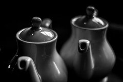 42/100x (Nomis.) Tags: blackandwhite bw monochrome blackbackground canon eos rebel mono raw tea indoor teapots spout teatime lightroom 100x niftyfifty 700d canon700d canoneos700d t5i canonrebelt5i rebelt5i image42100 100xthe2016edition 100x2016 sk201604146367raweditlr sk201604146367