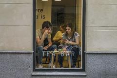 Intruder (Berman Yaniv) Tags: madrid window coffee bar tea drinking intruding