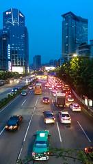 红色静脉2/Red Vein II (KAMEERU) Tags: guangzhou traffic dusk jam
