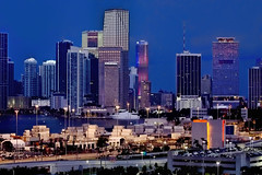 View of downtown Miami, Florida, U.S.A. @ the Blue Hour (Jorge Marco Molina) Tags: urban usa building tower skyscraper cosmopolitan cityscape metro florida miami highrise bluehour metropolitan density magiccity sunshinestate commercialproperty miamidadecounty jorgemolina miamitower portofmiamitunnel canonrebelt5i