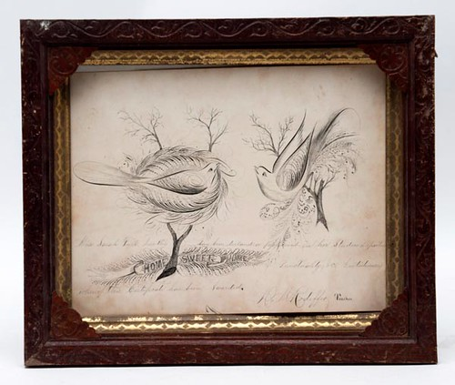 19th C. Rockingham/Shenandoah County Pen & Ink Drawing ($231.00)