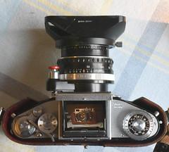 Zorki 4, seen through my Exakta Varex IIb (www.stuartglloyd.co.uk) Tags: zorki film photography 4 waist level finder 2b exakta varex
