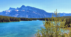Two jack Lake, and Mount Rundle, Banff National Park, Alberta, Canada - psi(5)194-199 (photos by Bob V) Tags: mountains rockies banff rockymountains mountrundle banffnationalpark canadianrockies banffalberta twojacklake banffpark banffalbertacanada