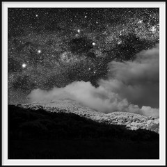 day and night (Andrew C Wallace) Tags: blackandwhite bw composite square ir australia victoria southerncross infrared astronomy nightsky milkyway wilsonspromontory m43 dayandnight microfourthirds olympusomdem5