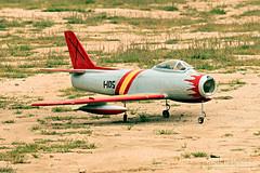 North American F-86 Sabre (almorenoa) Tags: paeea patrulladeaeromodelismodelejércitodelaire ejercitodelaire airforce spain españa aerobatics rcairplanes madrid villaviciosadeodon spanishairforce canon70d northamericanf86sabre sabre f86 tamronsp70200f28divcusd