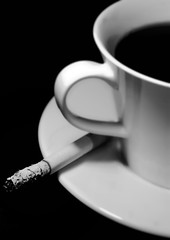 Friday Feeling (Michael Caul) Tags: light blackandwhite bw dublin white black art coffee photography noir noiretblanc cigarette smoke may culture minimal minimalism friday tgif blanc 2016 blackndwhite