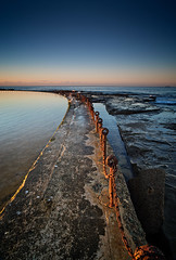 Rusty rings (noompty) Tags: ocean sunrise newcastle pentax rusty baths nsw k1 carlzeiss zk distagont2821 on1pics