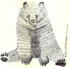 oso a lapicero (ivanutrera) Tags: bear wild animal oso sketch drawing wildlife sketching draw dibujo boligrafo dibujoalapicero dibujoenboligrafo