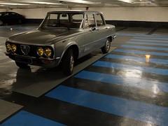 Parking (Nicolas -) Tags: paris france classic car sport vintage italian automobile stripes parking collection alfa romeo bandes giulia ancienne nicolasthomas