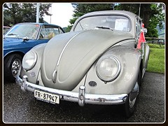 VW Beetle 1200, 1956 (v8dub) Tags: auto old classic car vw bug volkswagen schweiz switzerland automobile suisse beetle automotive voiture german cox 1200 oldtimer 1956 oldcar oval collector kfer coccinelle kever fusca aircooled wagen pkw klassik maggiolino ovale bubbla grandvillard ovali worldcars