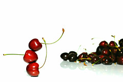 a matter of balance (brescia, italy) (bloodybee) Tags: 365project cherry fruit food balance stilllife red white