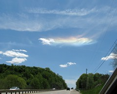 """Rainbow"" Cloud,May 16 2016 Rt 380 PA (Sea Moon) Tags: sky colors clouds halo refraction icecrystals cirrus phenomenon"