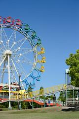 20160504 Horiuchi Park 6 (BONGURI) Tags: park blue sky nikon df cosina bluesky jp ferriswheel  slider  aichi   anjo         horiuchipark  cosinavoigtlndernokton58mmf14sl2n