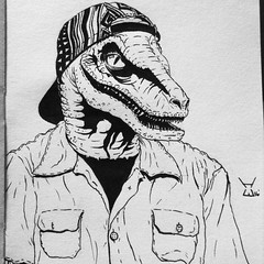 Reincarnated #selfportrait #dibujo #drawing #raptor #jurassicswag #sketch #pen #black #ink #Animorph #art #reptileass #arte #dinosaur  #1 #IHAveNoNE #Flex #callingallcreeps (hlalo_25) Tags: selfportrait black art pen ink 1 sketch arte dinosaur drawing raptor flex dibujo animorph ihavenone jurassicswag reptileass callingallcreeps