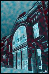 """Station Thatre spacial"" (J oSebArt's Pictures) Tags: colors architecture night photoshop canon marseille provence nuit inauguration vieuxport lightroom 650d theatrenational criee quairiveneuve mp2013"