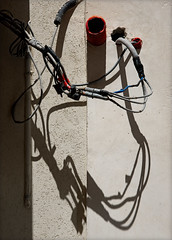 Wiring (hogsvilleBrit) Tags: trapani sicily wiring electricity cable shadow abstract wall pipe concrete