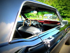 Passenger side - sixties Ford Mustang (John(cardwellpix)) Tags: uk ford june corner sunday surrey mustang guildford 5th newlands 68 albury 2016 merrow