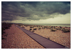Into the Distance (go18lf2004) Tags: beach weather sussex spring path horizon shingle perspective pointofview distance cloudformation shoreham