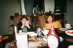 night tea night (kyingwong) Tags: guangzhou china girls red flower english cup girl yellow night table living chair phone tea room teacup jam source