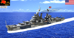 USS Baltimore Heavy Cruiser (Enon) Tags: world city oregon us war lego pacific navy battle baltimore class vietnam korean second canberra missile heavy cruiser uss guided 203mm