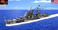 USS Baltimore Heavy Cruiser (Eínon) Tags: world city oregon us war lego pacific navy battle baltimore class vietnam korean second canberra missile heavy cruiser uss guided 203mm
