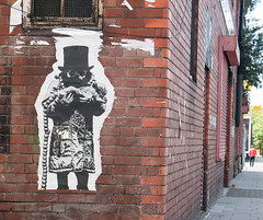Liverpool Stencil Pasteup (cocabeenslinky) Tags: city uk england urban white streetart man black pasteup art up june liverpool cord lumix graffiti glasses photo stencil artist photos paste culture panasonic graff artiste merseyside umbilical 2016 dmcg6 cocabeenslinky