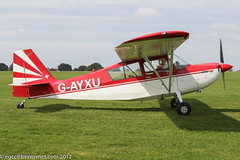 G-AYXU - 1969 build Bellanca 7KCAB Citabria, at Sywell during the 2012 LAA Rally (egcc) Tags: northampton peplow champion orm lightroom bellanca citabria moffatt lycoming sywell 7kcab 23270 egbk io320 laarally gayxu n7587f 2012laarally