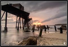 Breaking (Emma White ( ... somewhere ... )) Tags: longexposure beach sunrise newcastle bay nikon long exposure photographer hill catherine nsw coal loader emmawhite