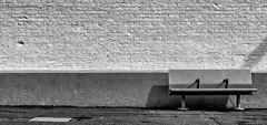 Negative Bench (TD2112) Tags: wall bench sussex mono blackwhite pavement seat bricks platform railway negativespace weststleonardsstation tonyduke