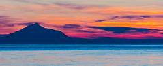 A Colourful Mount Athos Sunset - View from Blue Waves Cafe-Bar - Myrina on Lemnos (Olympus OMD EM5II & mZuiko 40-150mm f2.8 Pro Zoom) (1 of 1) (markdbaynham) Tags: sunset colour clouds island greek view zoom hellas evil olympus mount greece grecia pro gr zuiko omd athos csc oly mz limnos hellenic m43 zd mft lemnos myrina em5 mirrorless micro43 microfourthird micro43rd mzuiko m43rd em5ii zuikolic