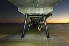 Rockingham Jetty (Macr1) Tags: sea lightpainting beach water architecture sunrise coast nikon outdoor jetty australia location cameras shore wharf wa geography westernaustralia default lenses conditions rockingham builtenvironment vlife d700 nikond700 markmcintosh pcenikkor24mmf35ded macr237gmailcom markmcintosh 15000lumens 61403327236