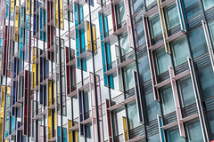 Abstract Architecture #29 - Explored (Sean Batten) Tags: city england urban abstract color building london architecture hotel nikon exterior unitedkingdom waterloo gb parkplaza 70200 d800