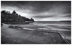 Paignton Beach (S.R.Murphy) Tags: longexposure sea sky blackandwhite bw seascape beach clouds coast harbour serene paignton monochome canon1740mmf4l coastallandscape leefilters canon6d