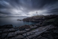 Lighthouse in Blue (Iván F.) Tags: blue ireland sea sky lighthouse seascape nikon rocks long exposure head 28 tamron donegal waterscape fanad 1530mm d800e