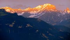 Alpine sunset (oobwoodman) Tags: sunset mountains alps alpes schweiz switzerland sonnenuntergang suisse lausanne berge alpen alpenglow montagnes montreux vaud grandvaux couchedesoleil muveran