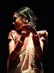 The Light Bearer (ainuLIslam) Tags: light shadow portrait woman india girl lights colours indian desi saree lowlights
