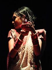 The Light Bearer (ainulislam) Tags: light shadow portrait woman india girl lights colours indian desi saree lowlights